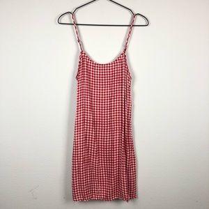 Show me Your Mumu • Red Gingham Mini Slip Dress